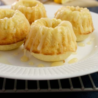 Mini Meyer Lemon Bunt Cakes (dairy free version available too!)