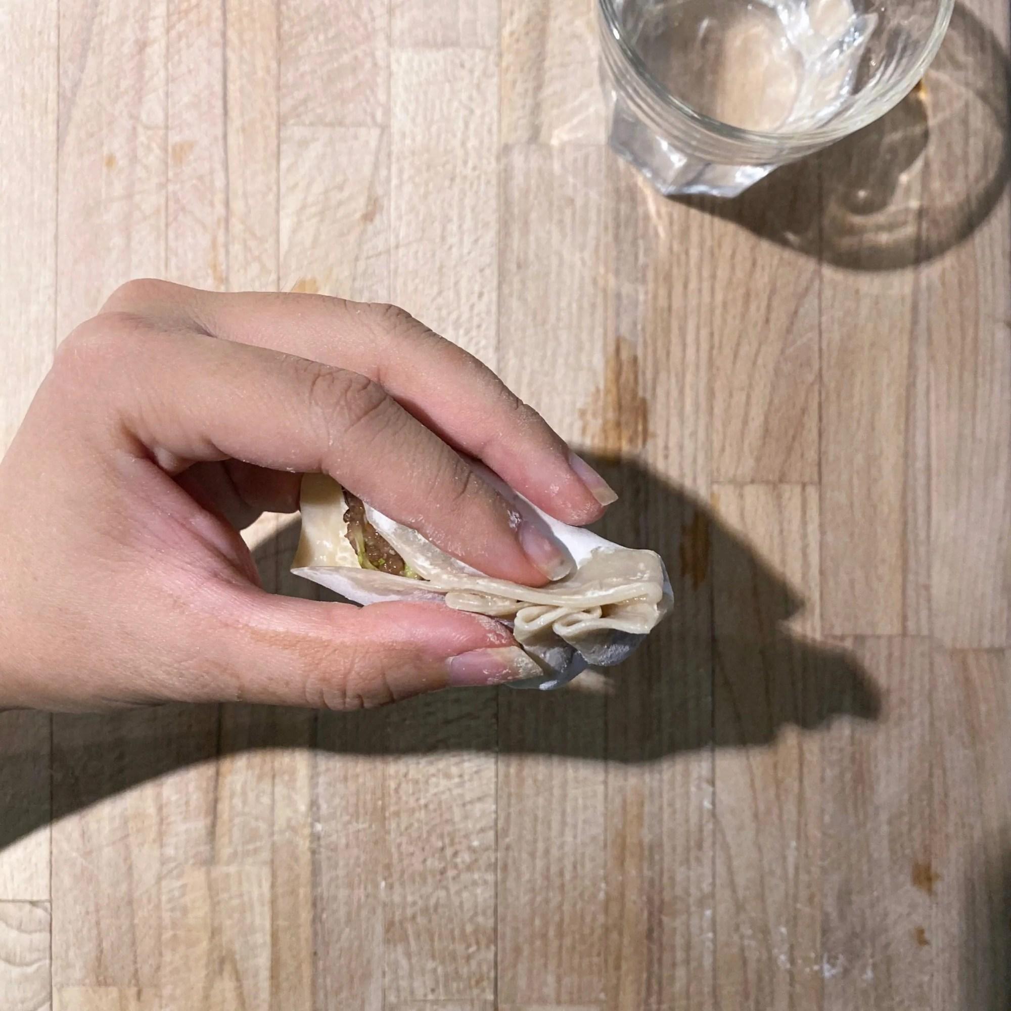 how to fold pork dumplings