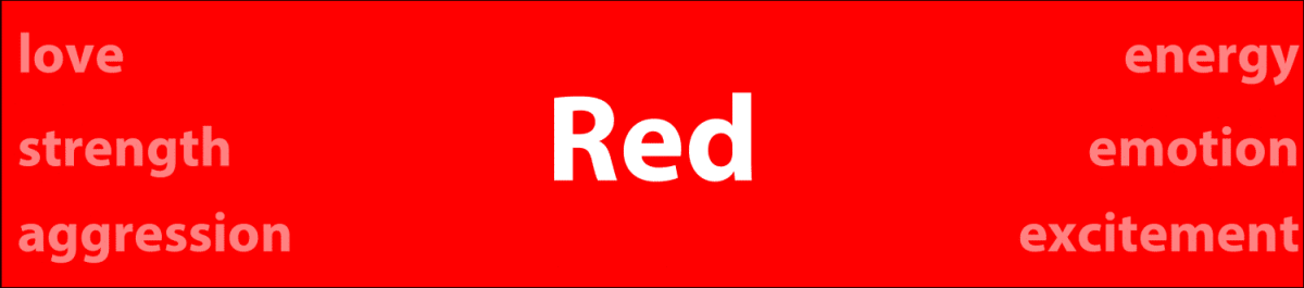 Psychology of color red