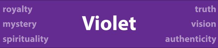 Psychology of Color Violet