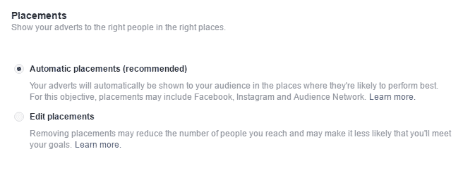 facebook advertisement network