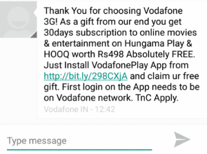 vodafone cross promotion