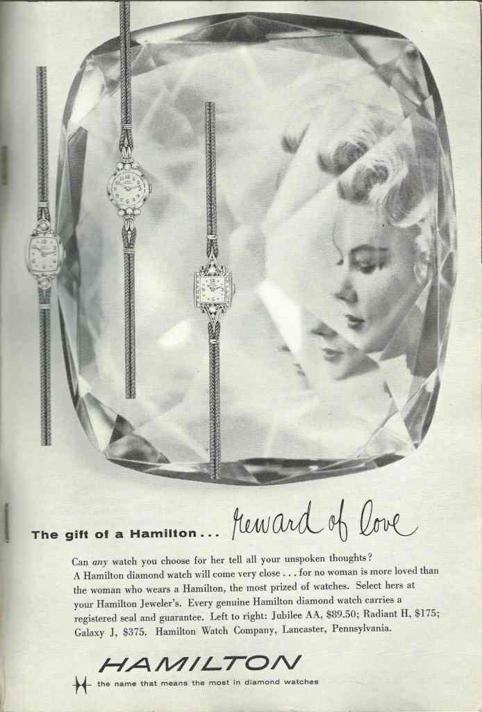 1958 Hamilton Vintage Print ads