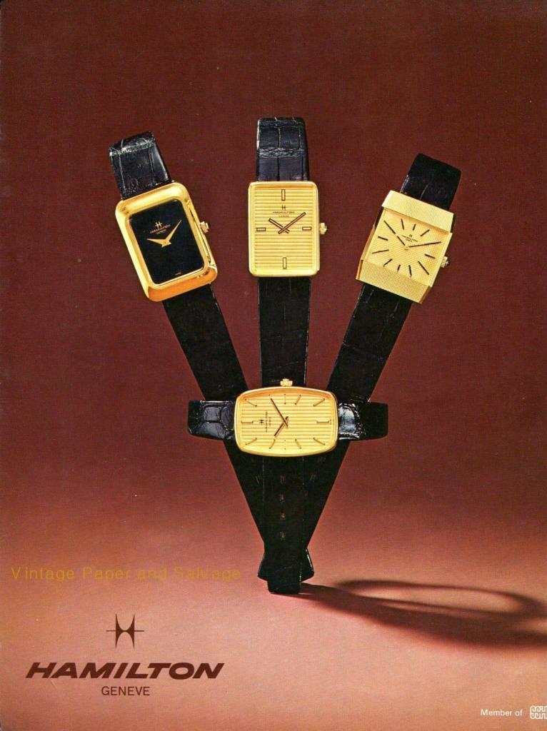 1974 Hamilton Vintage Print ads