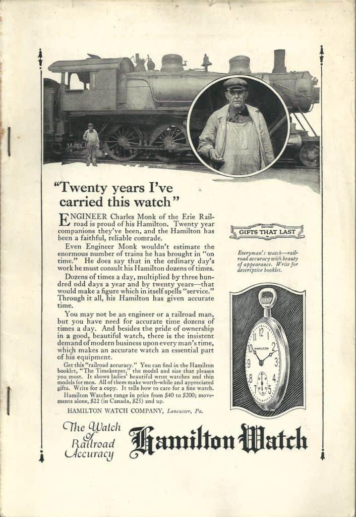 3-1922 hamilton vintage advertisement