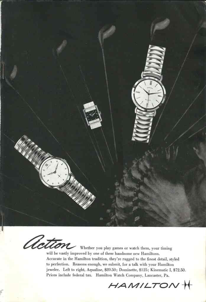 1957 Hamilton Vintage Print ads