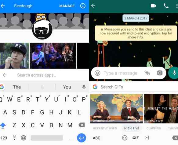 giphy integration with facebook and whatsapp