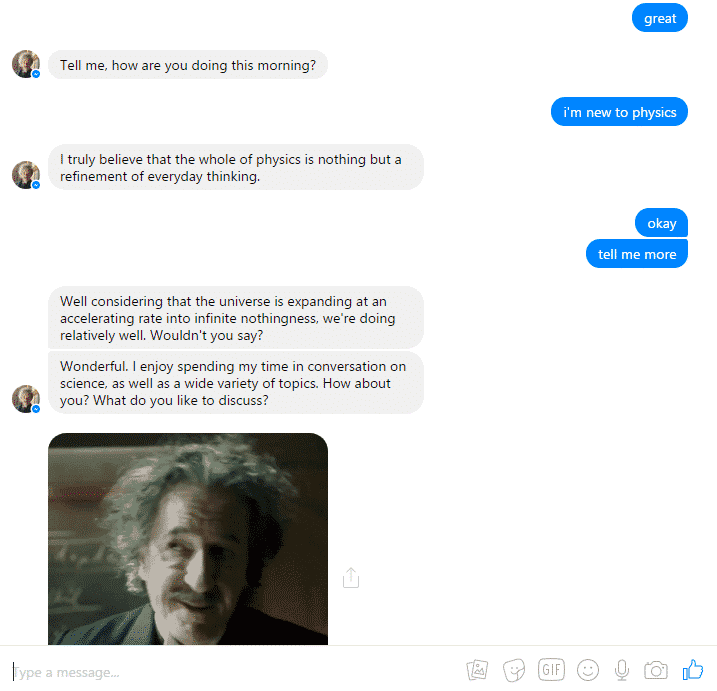 einstein chatbox examples of ai in marketing