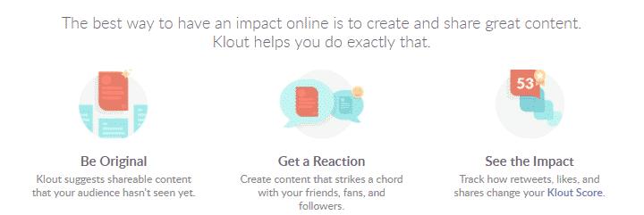 klout free digital marketing tools