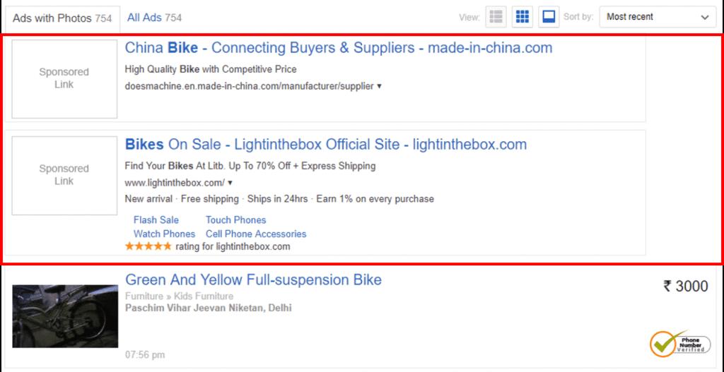 how does olx make money google custom search