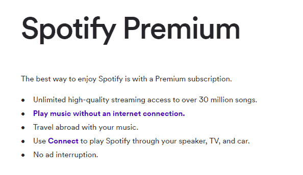 spotify premium features