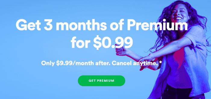 spotify business model premium