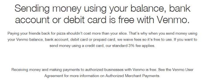 venmo credit card fees