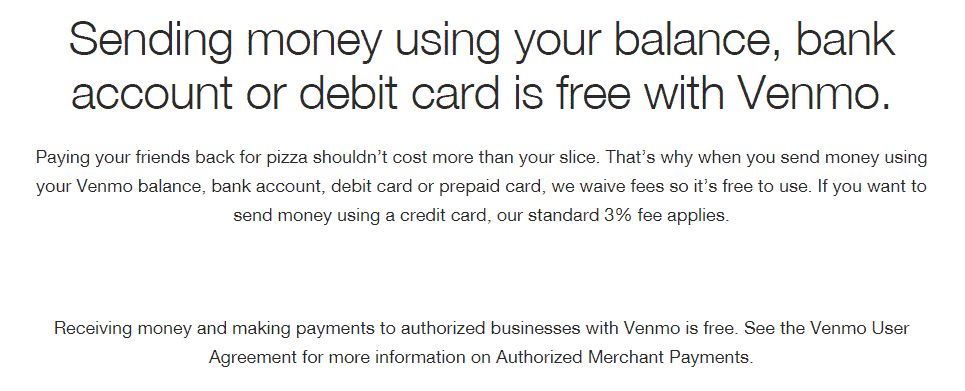 venmo credit card fees