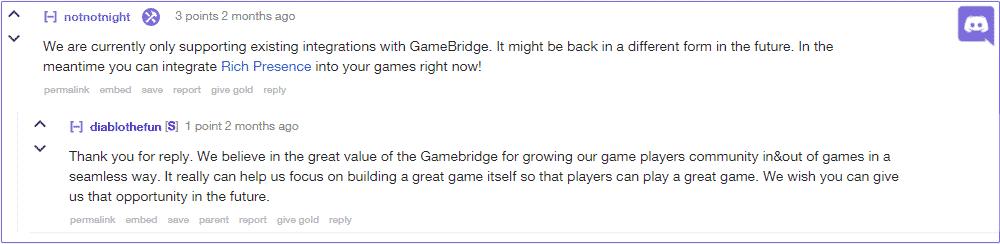 discord gamebridge business model