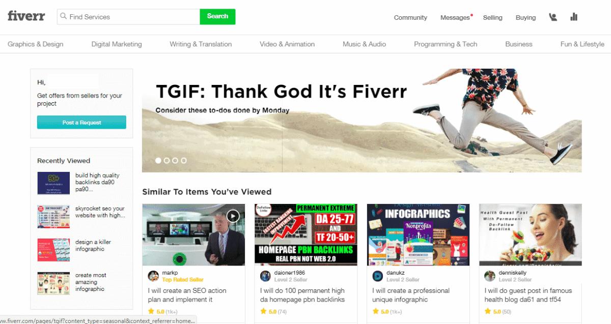 fiverr best outsourcing website