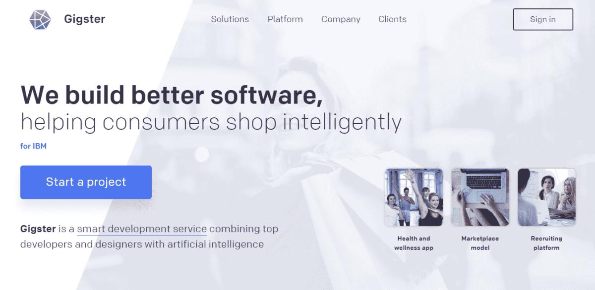 gigster best code freelancer website