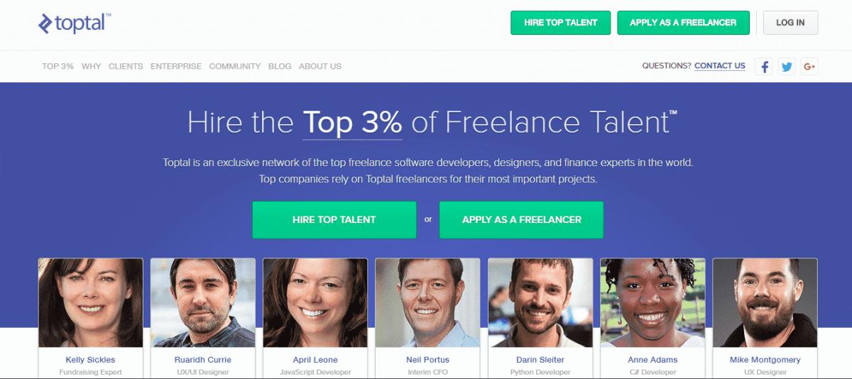 toptal best freelance marketplace