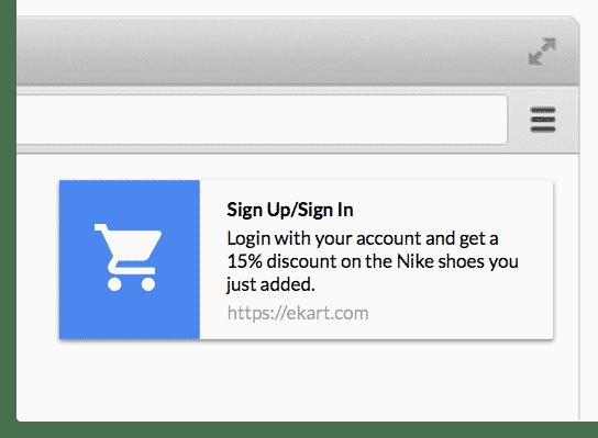 push notification ecommerce