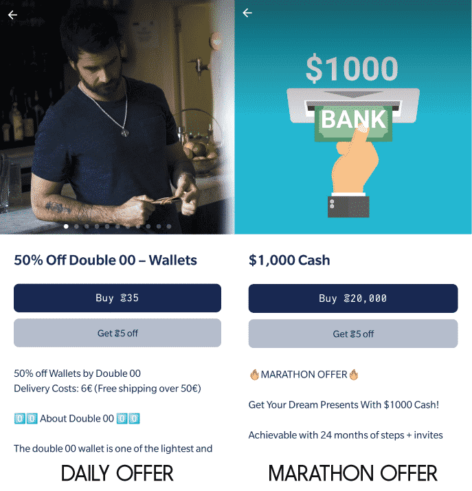 SWEATCOIN OFFERS