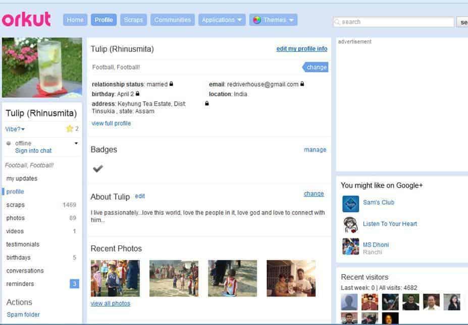 Orkut privacy