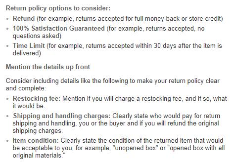 ebay return policy