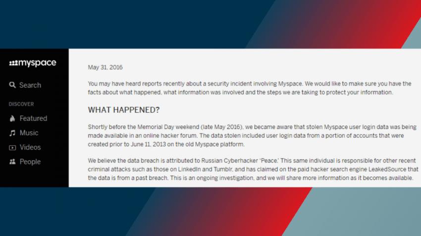 myspace data breach