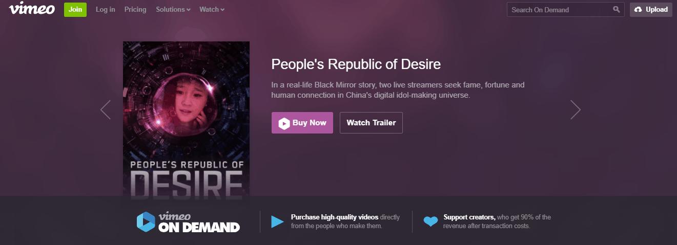 vimeo video on demand