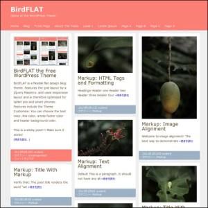 birdflat wordpress theme