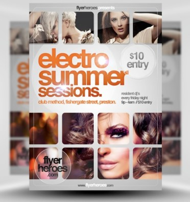 Electro Summer Sessions Flyer Template