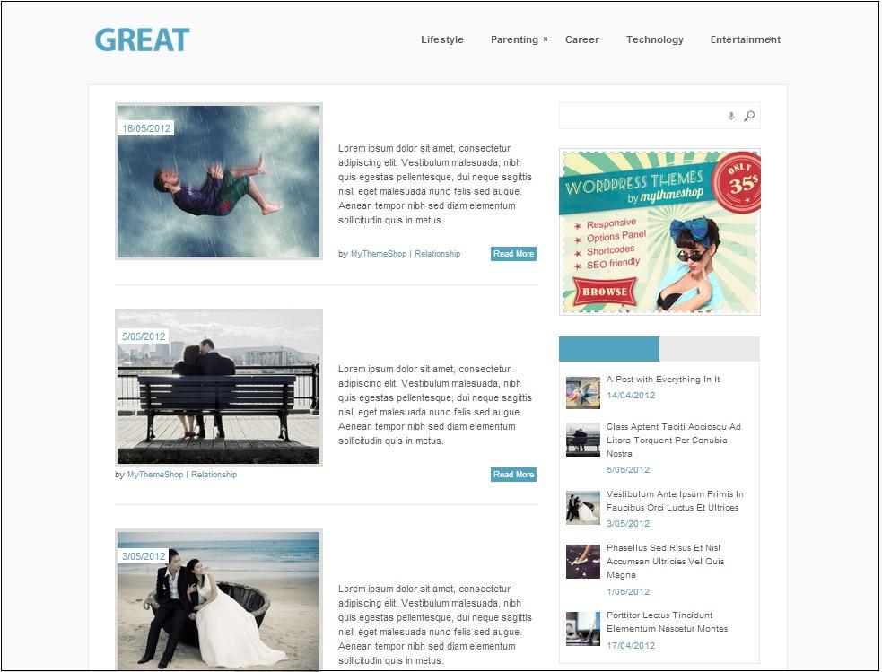 Great wordpress theme