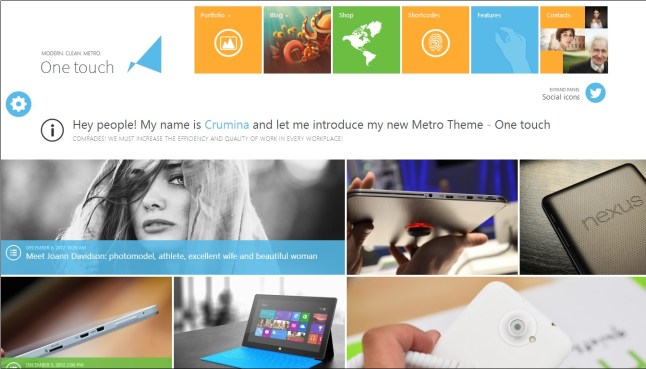 One Touch WordPress theme