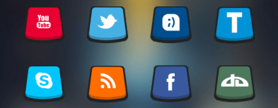 Perspective 3D Social Icons
