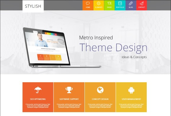 STYLISH Metro WordPress theme