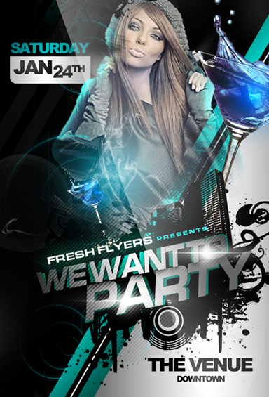 WE WANT TO PARTY FREE CLUB TEMPLATE
