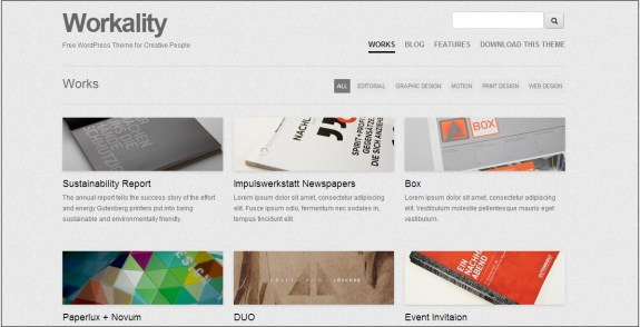 Workality WordPress theme