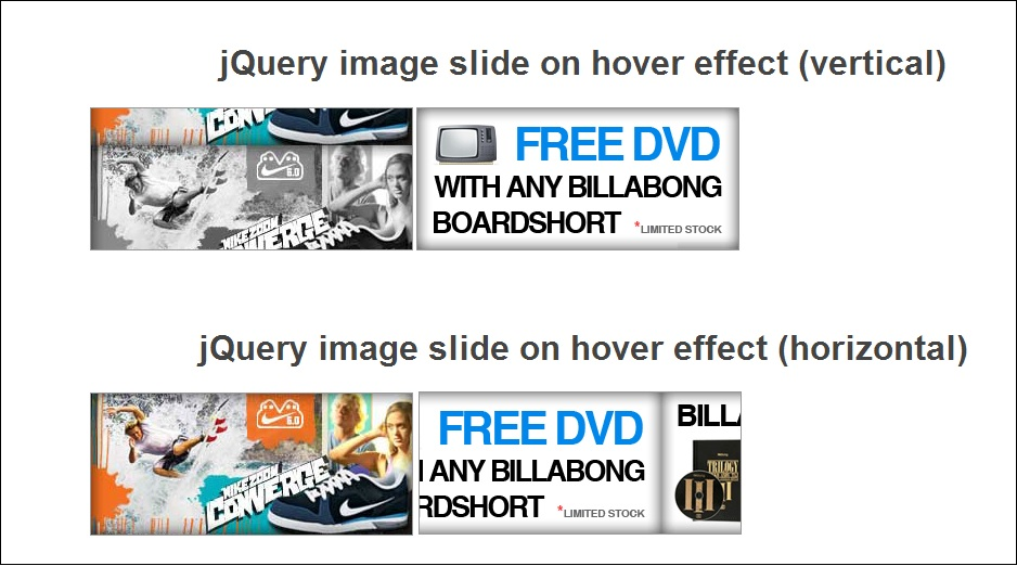Useful image hover slide effect