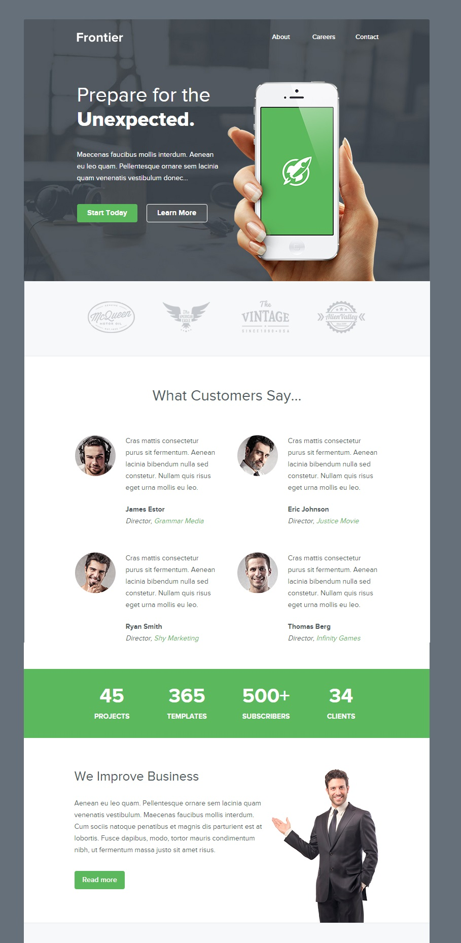 Frontier email template