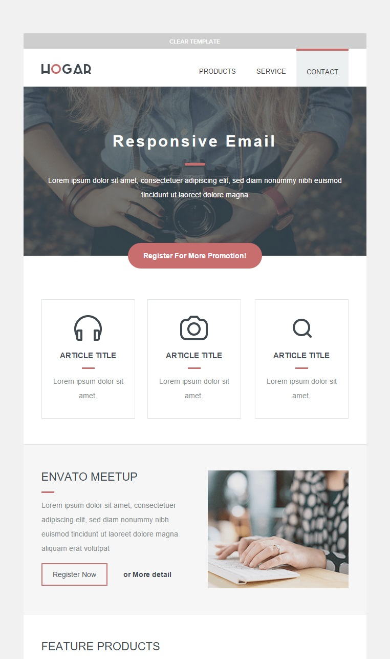 Hogar Responsive email template