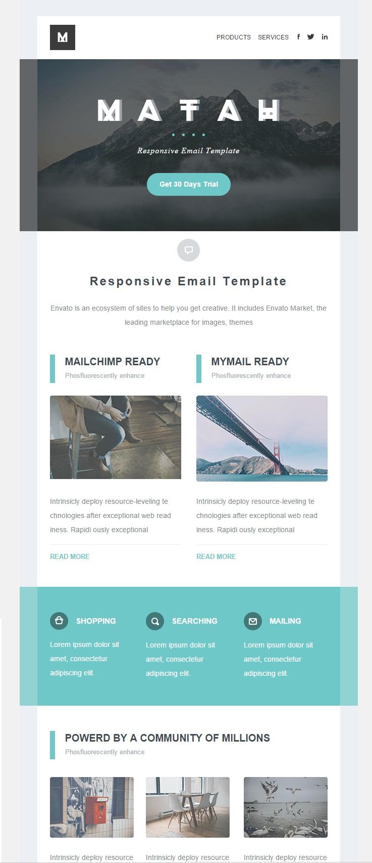 Matah responsive email template