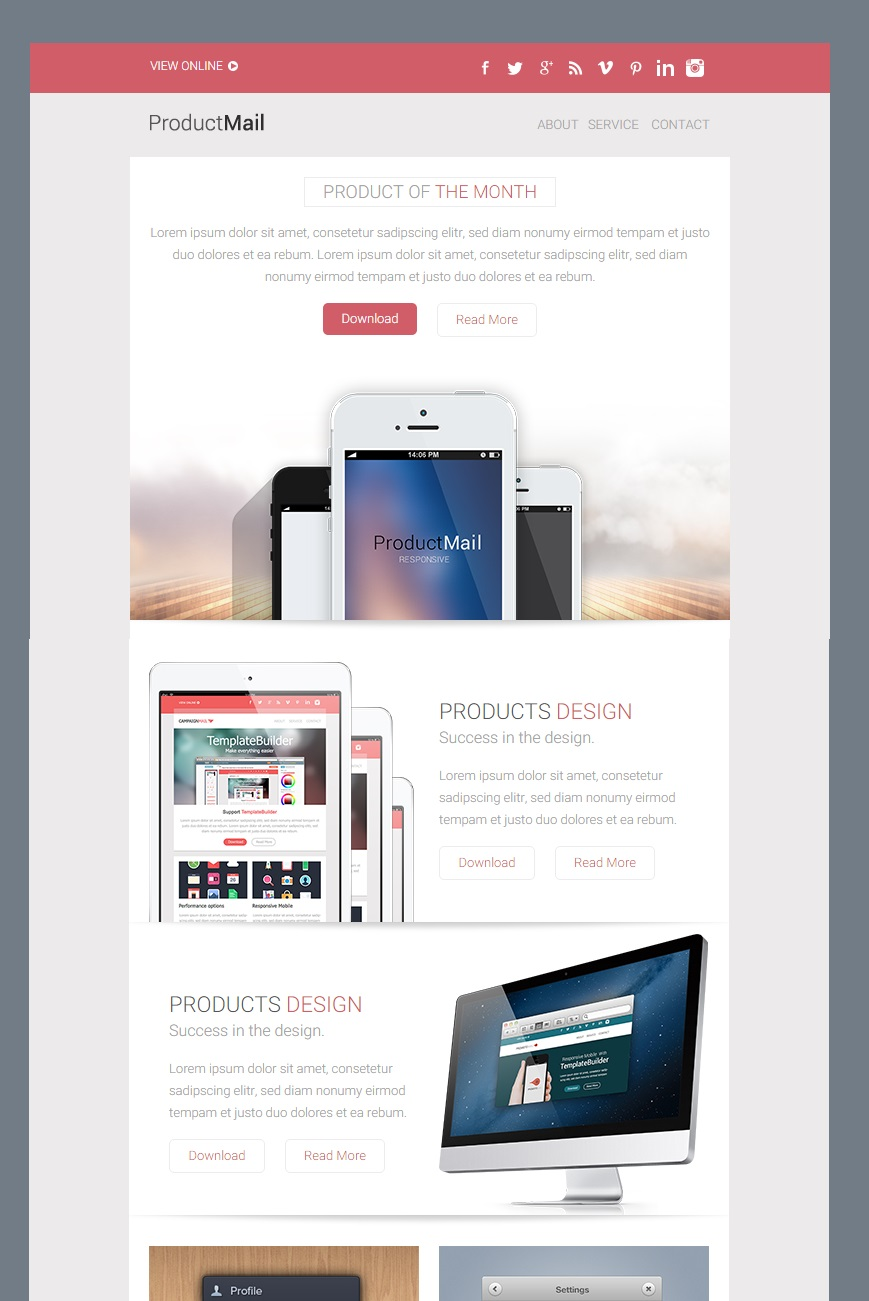 ProductMail responsive email template