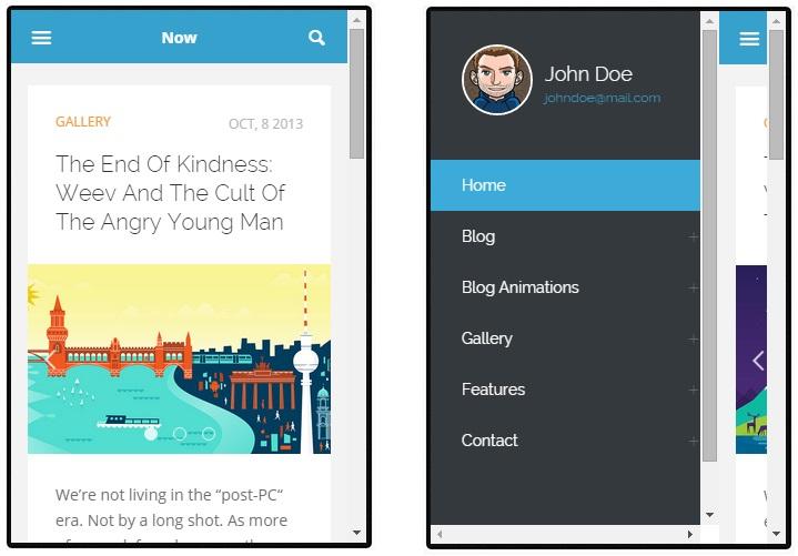 Now mobile wordpress theme