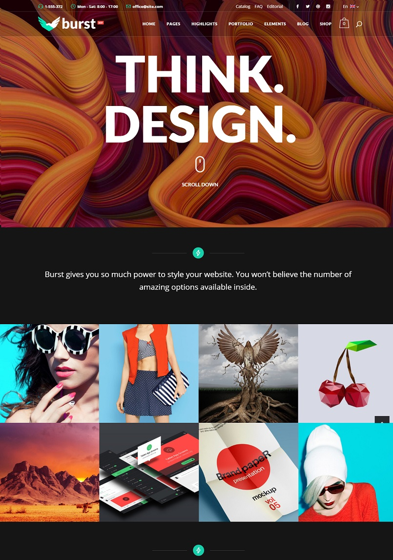 burst wordpress theme