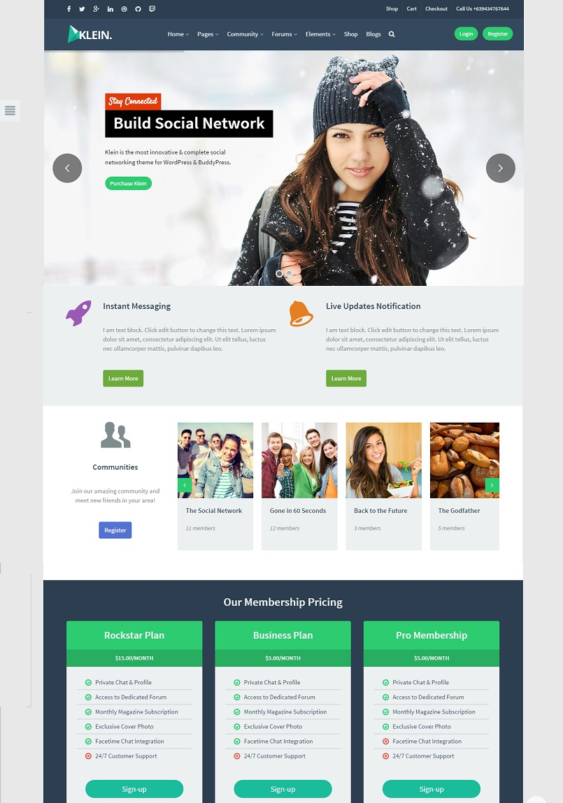 klien wordpress theme
