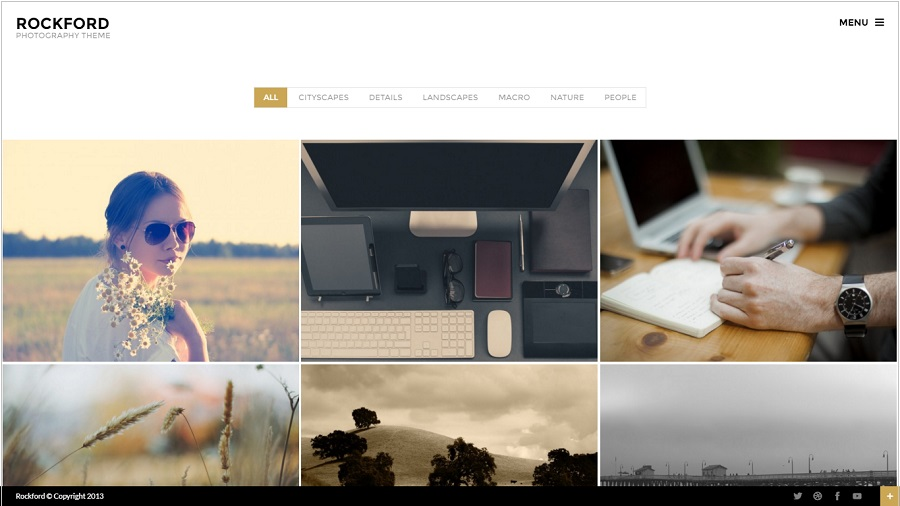 Rockford Photography WordPress theme