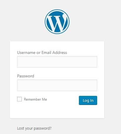 WordPress login