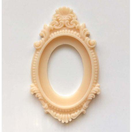 cadre baroque beige rose
