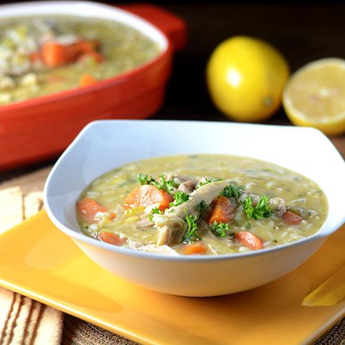 lemon, turkey, rice, butter, flour, carrots, celery, onions, parsley, eggs, stock