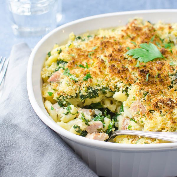 """""""Southern Ham and Kale Hot Dish #ham #kale / feedyoursoul2.com"""" from Garlic and Zest"""
