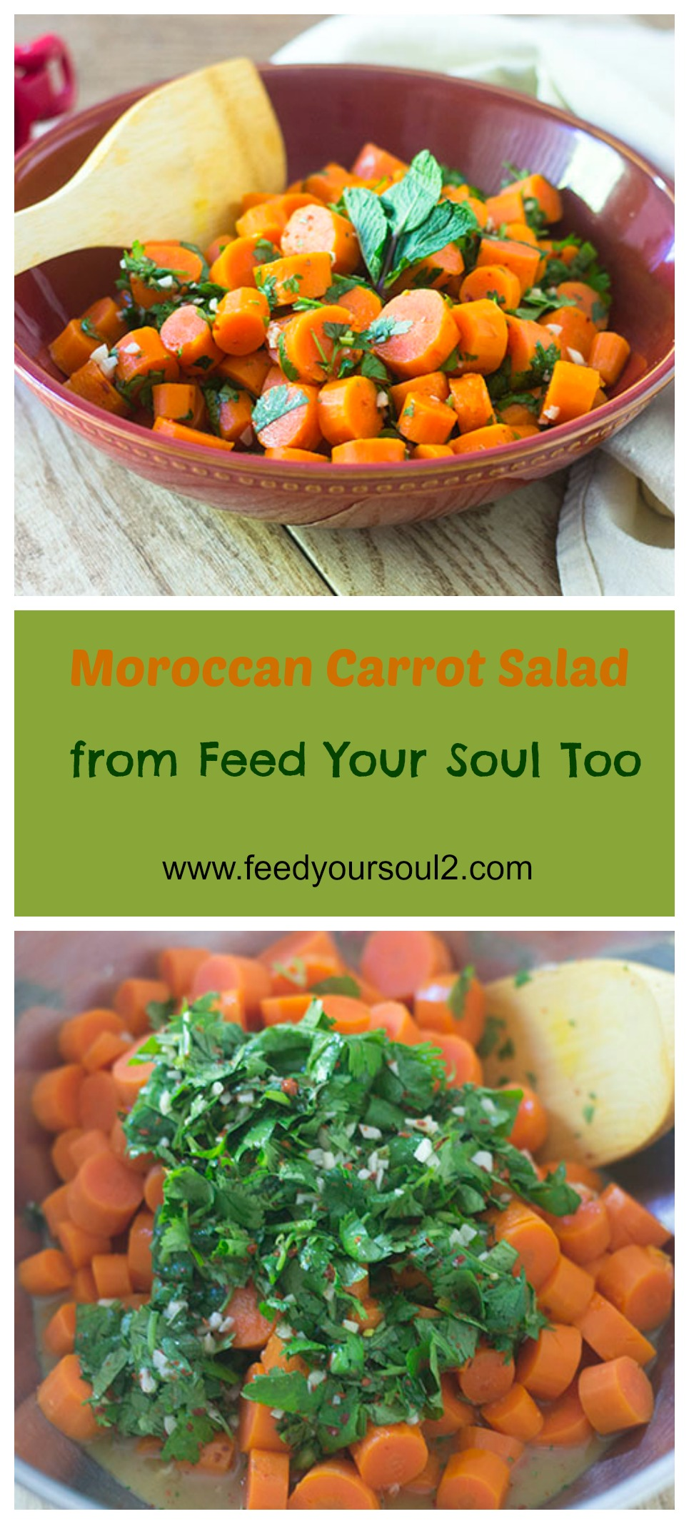 Moroccan Carrot Salad #vegan #salad #carrots | feedyoursoul2.com